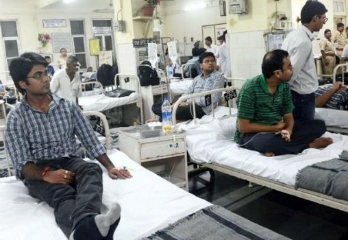 patients on hospital beds