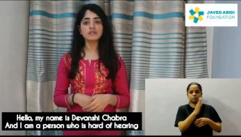 Deevanshi Chabbra A student of Delhi School of Social Work talks about issues related to people with a hearing Disability