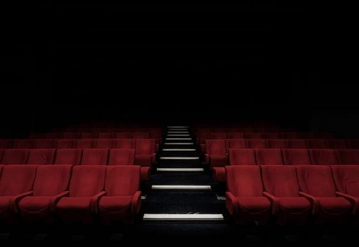red chairs of cinema hall