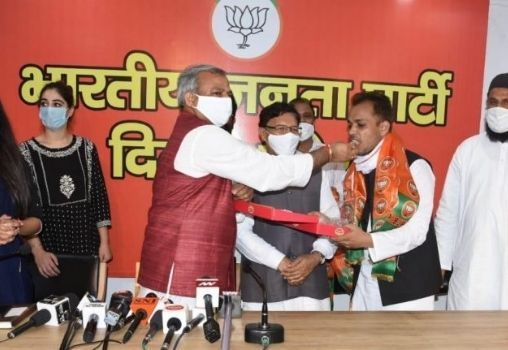 shahzad ali from shaheen bagh joins bjp getty