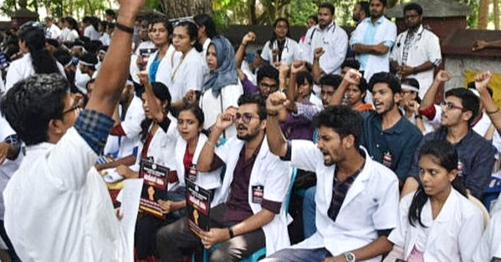 protest against exam during covid