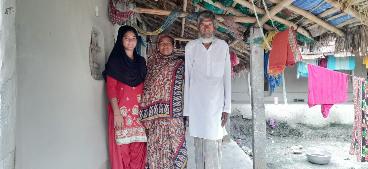Rabeya with her family
