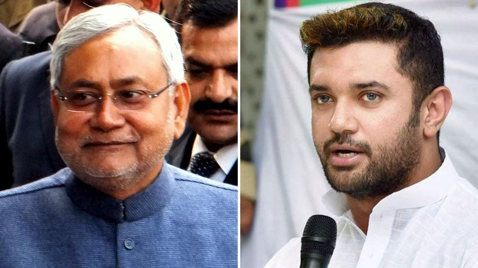 nitish kumar and chirag paswan