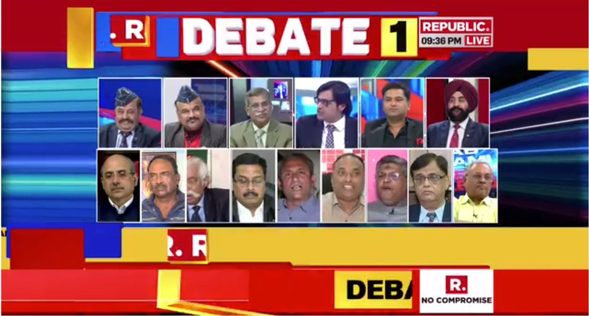republic tv debate panel