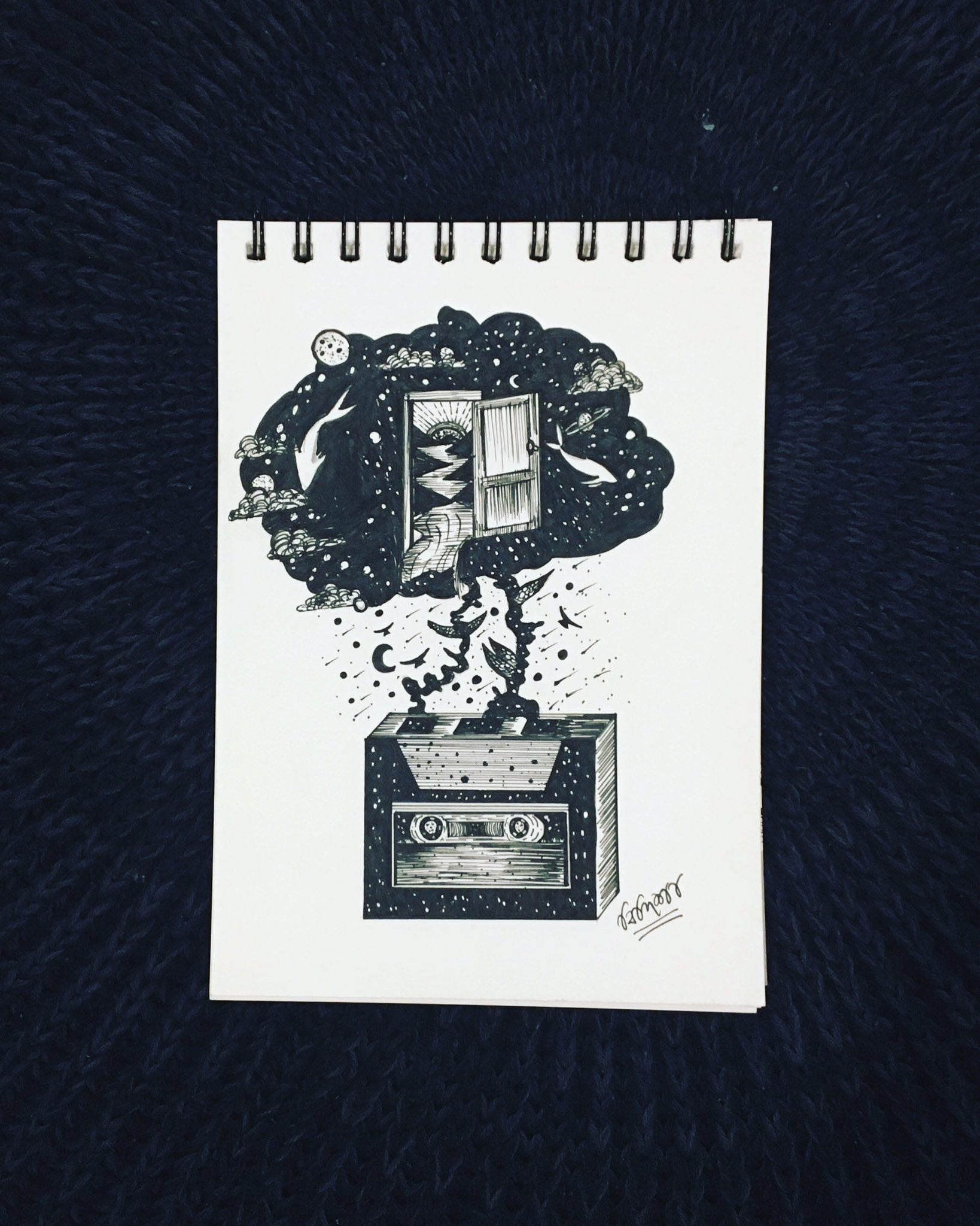 Sketch by Bidisha Bhattacharya