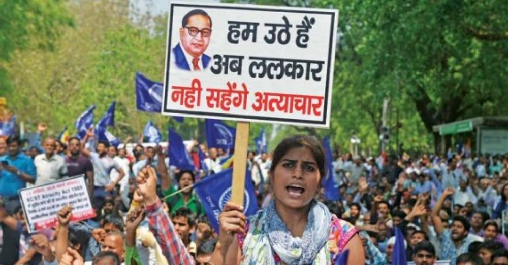 dalit issues protest