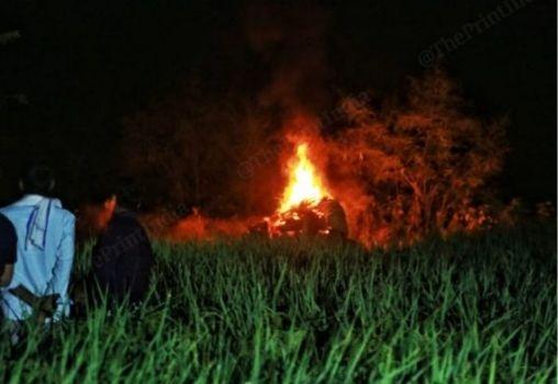 hathras victim cremation