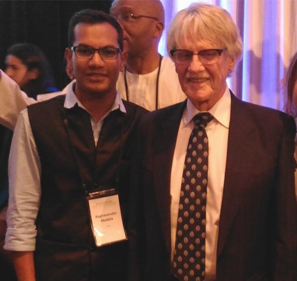 Raghavendar Askani with Vernon L. Smith (Nobel Prize in Economic) in Acton Institute, USA