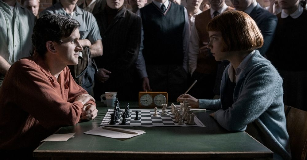 A still from the Netflix show 'The Queen's Gambit'