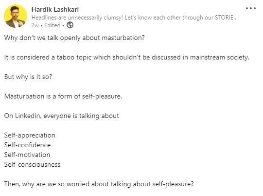 Is masturbation good?