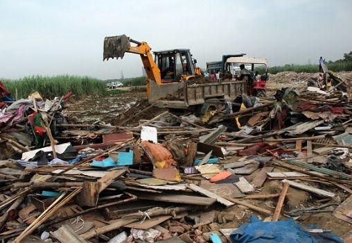 okhla dda slum clearance drive during pandemic