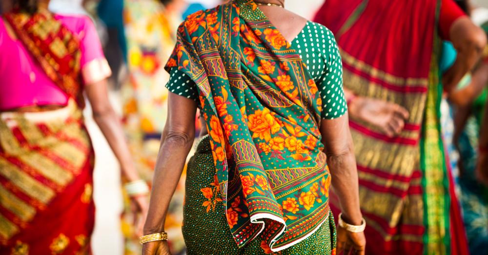 An old woman walking