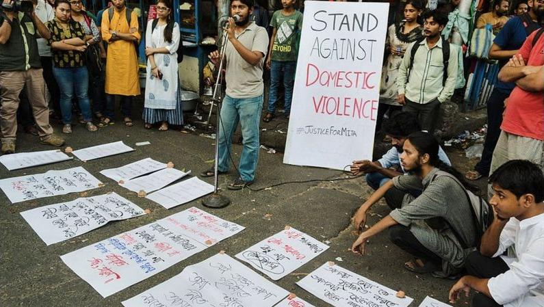 domestic violence protest