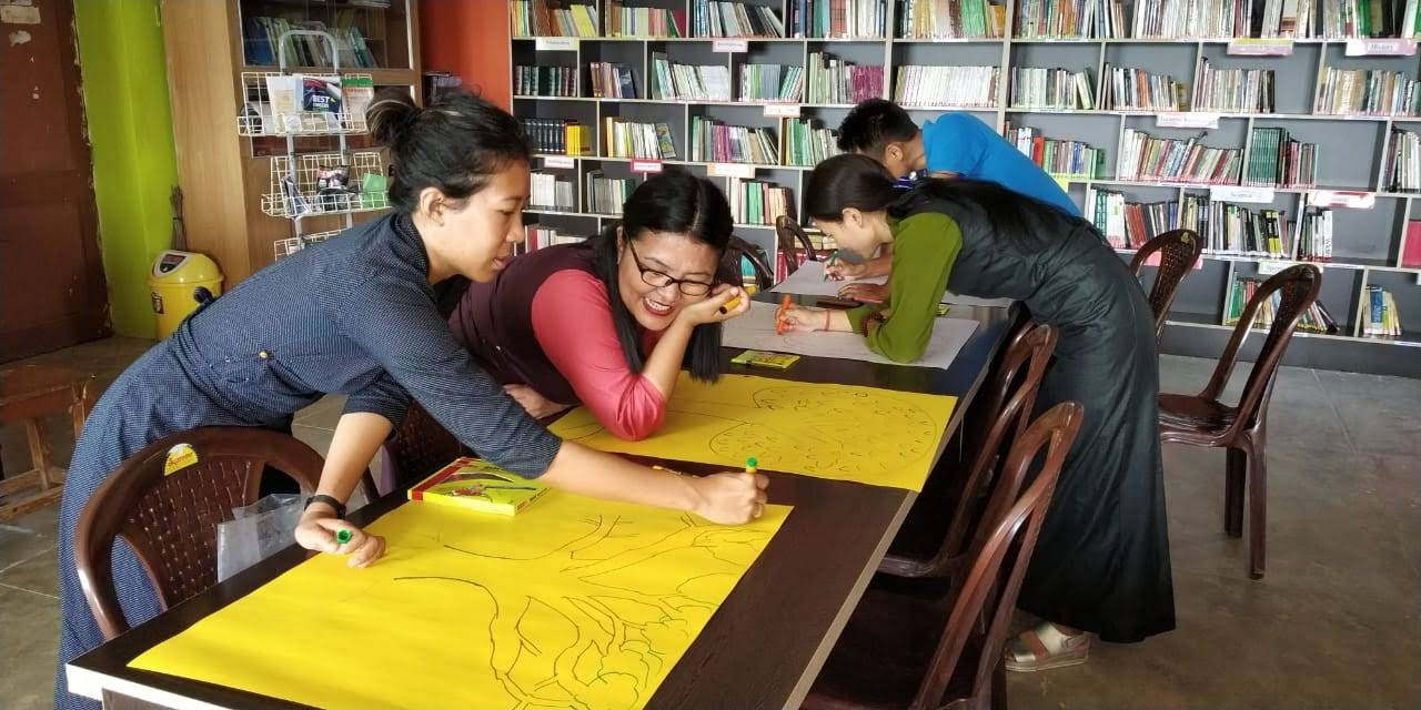 Tsering Kyi working with WED team at CTA