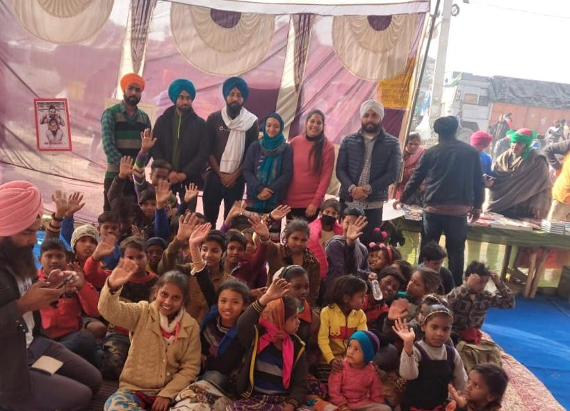 Sanjhi Sath farmer protest india