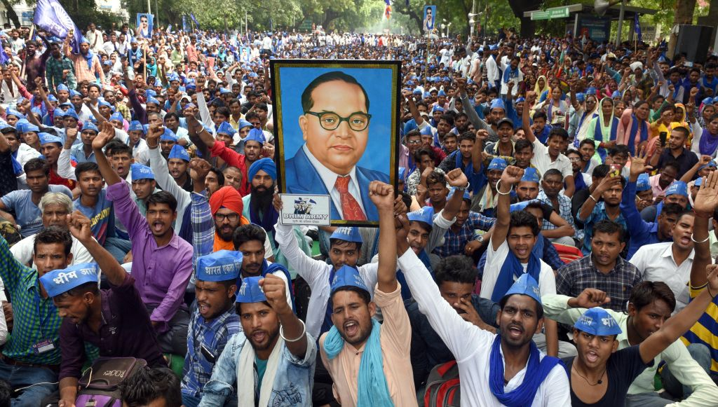Protest By Dalit Outfit Bhim Army