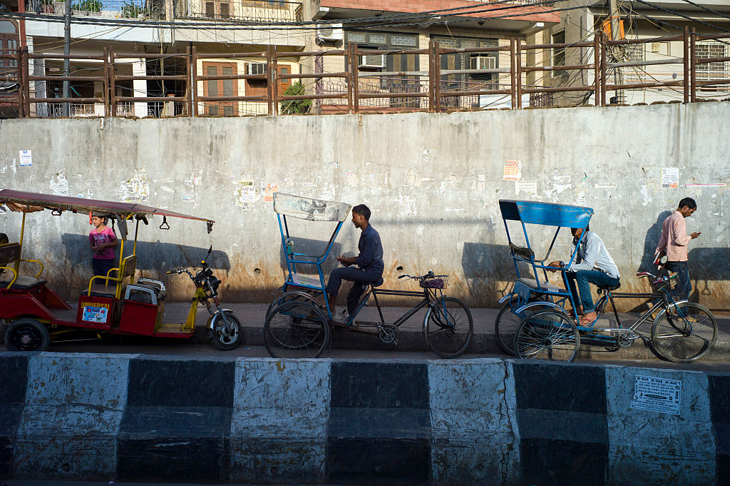 Rickshaw Pullers In New Delhi