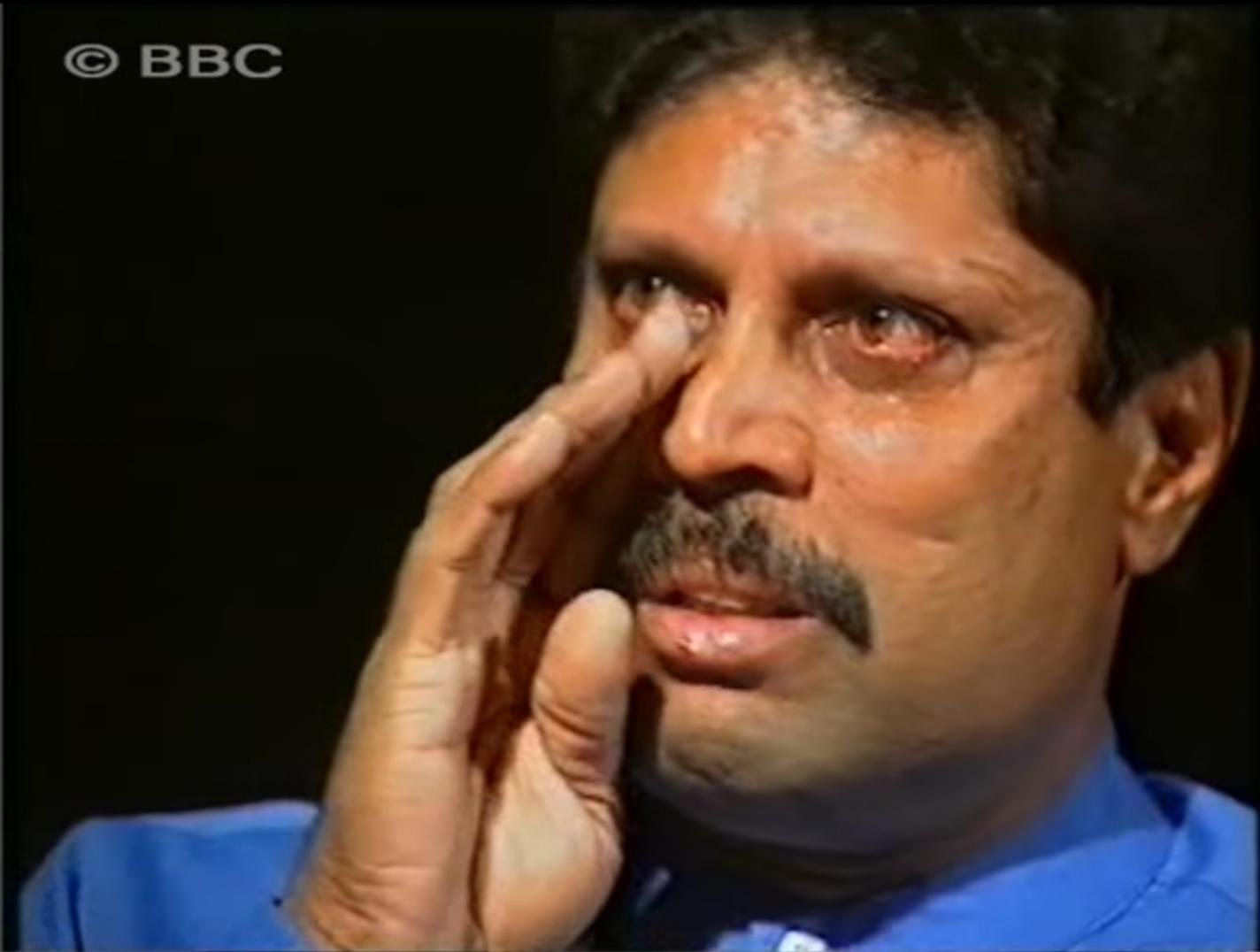 Cricketer Kapil Dev's interview with journalist Karan Thapar in 2000.