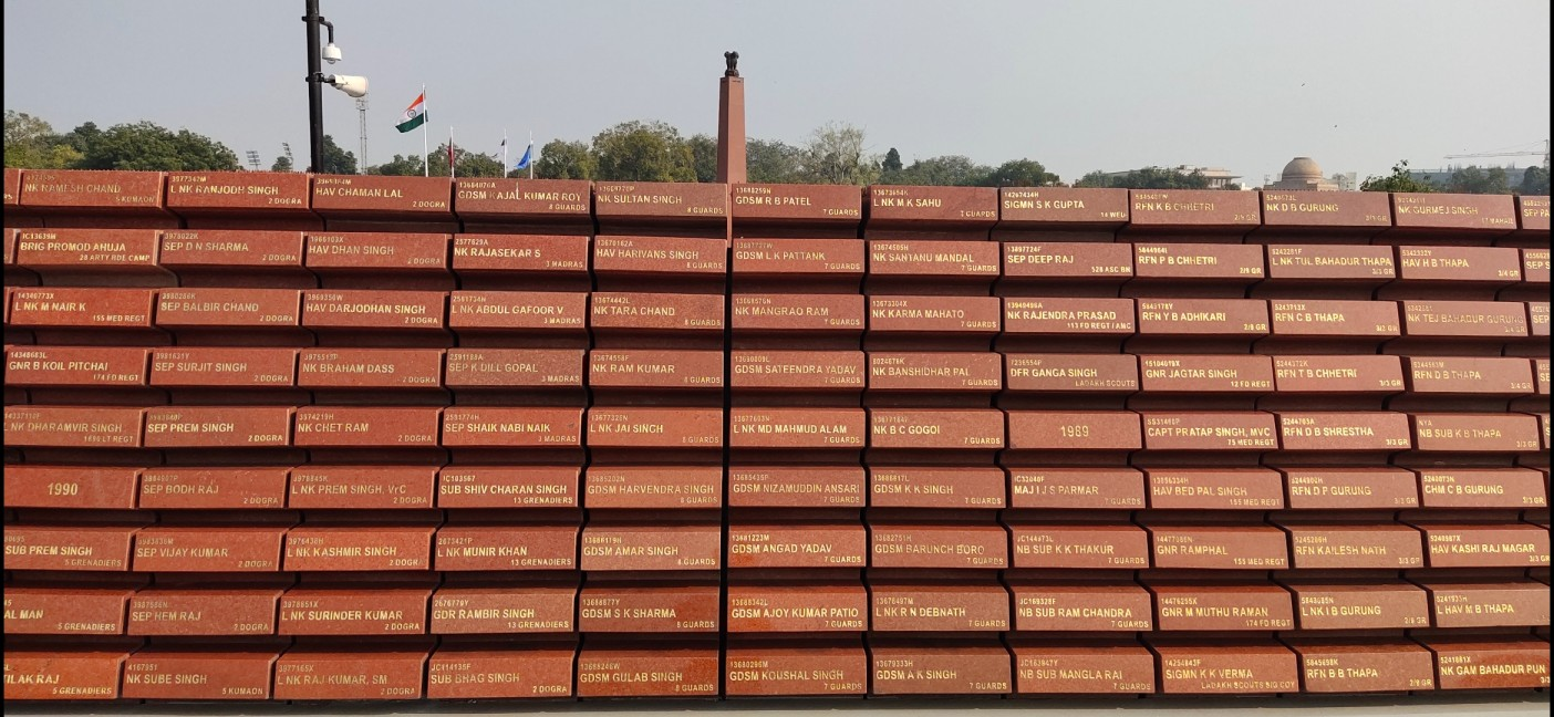 National War Memorial at India Gate in New Delhi.