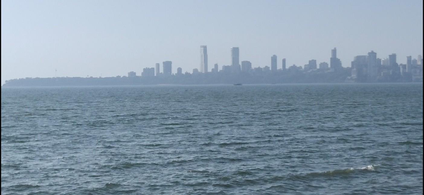 Sea at Marine Drive in Mumbai.