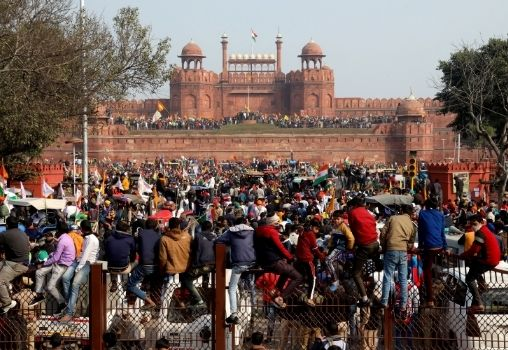 farmer protest red fort