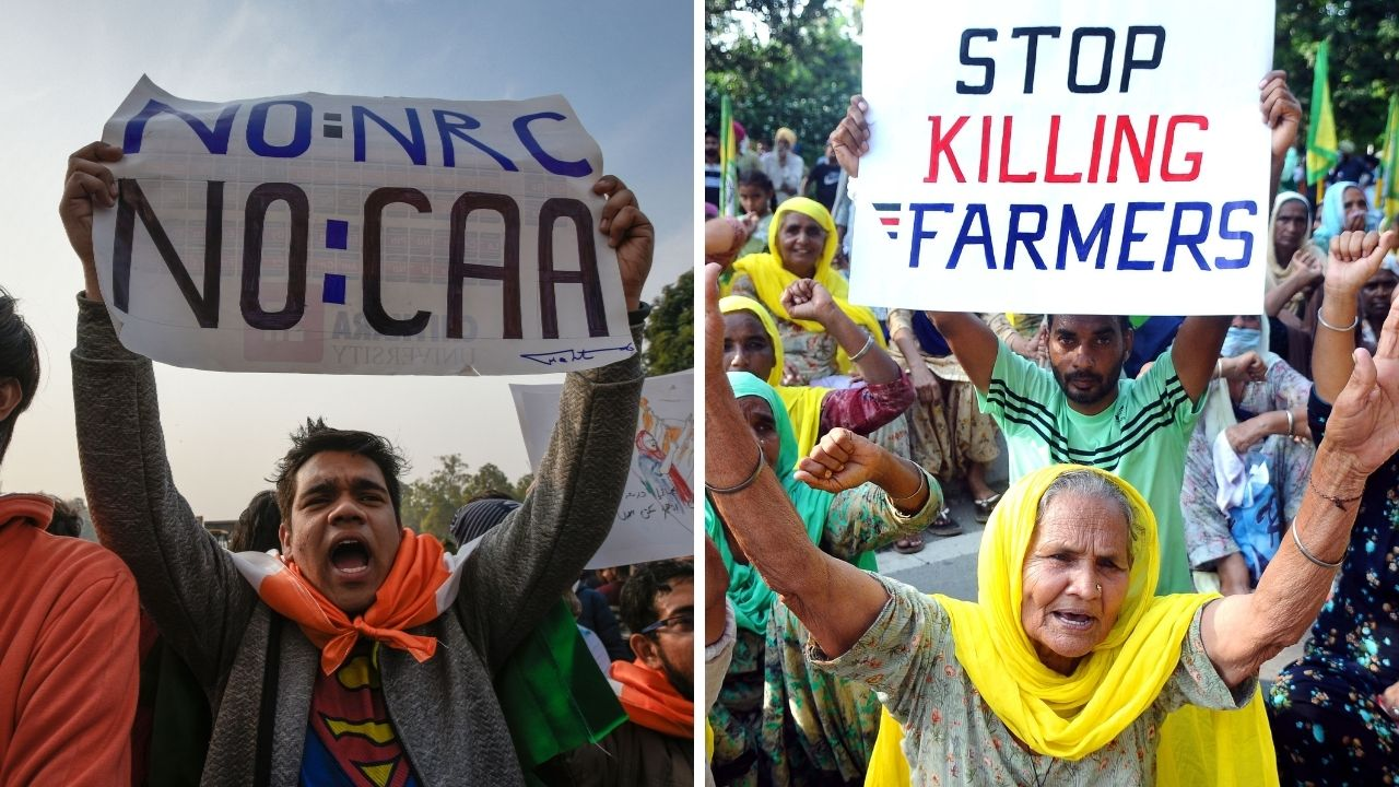 caa and farm law protests