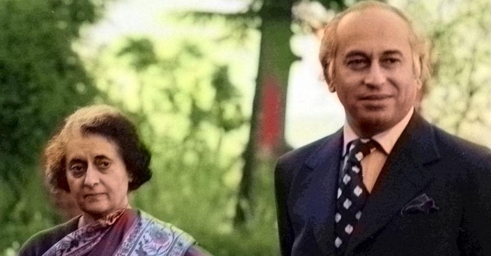Indira Gandi and Zulfikar Bhutto