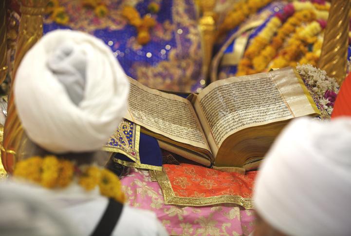 Celebrations consecration of perpetual Guru Granth Sahib Sikh, Sachkhand Saheb Gurudwara in Nanded