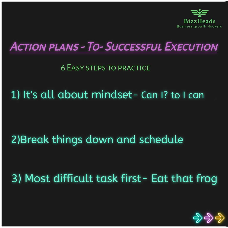 6 Tips for plan execution. Pratap Kadam
