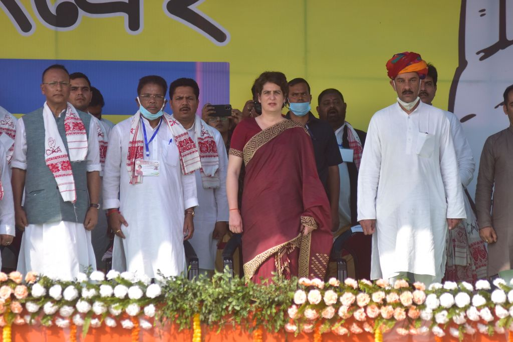 Priyanka Gandhi Election Rally In Assam