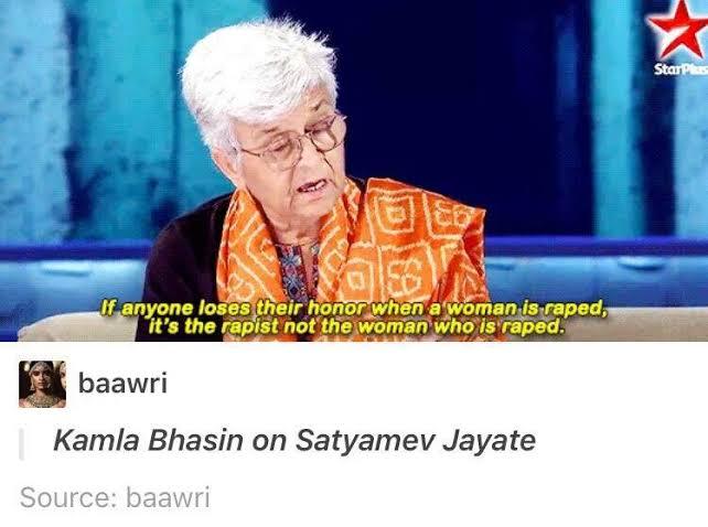 Kamla Bhasin on Rape