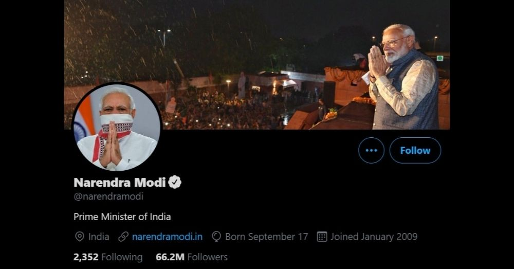 Modi Twitter Account