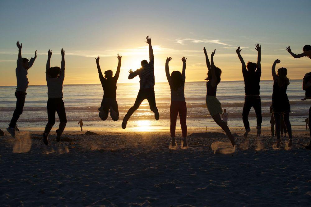 friends people group beach