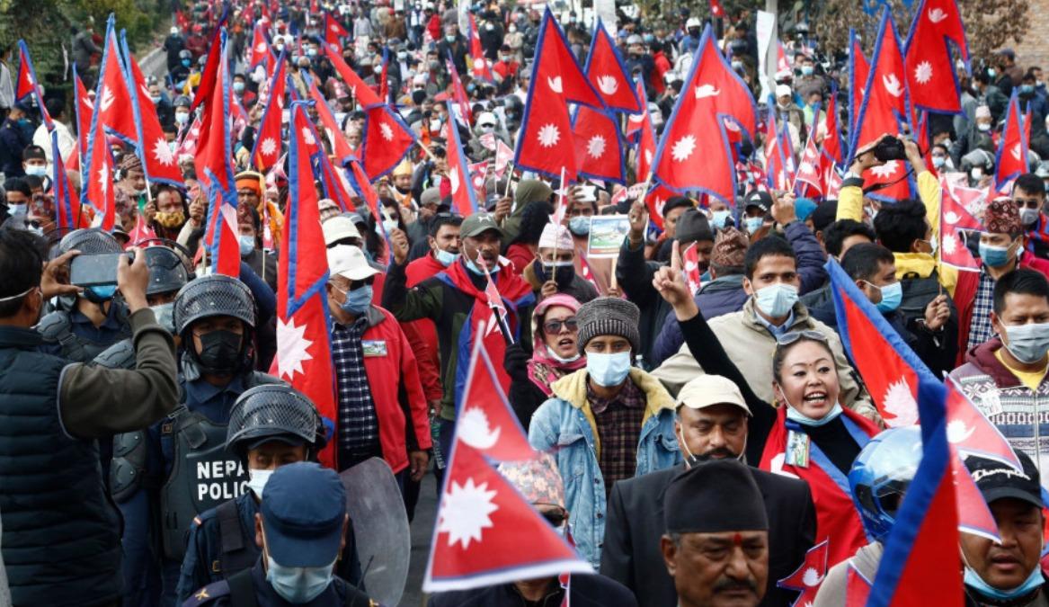nepal kathmandu protest