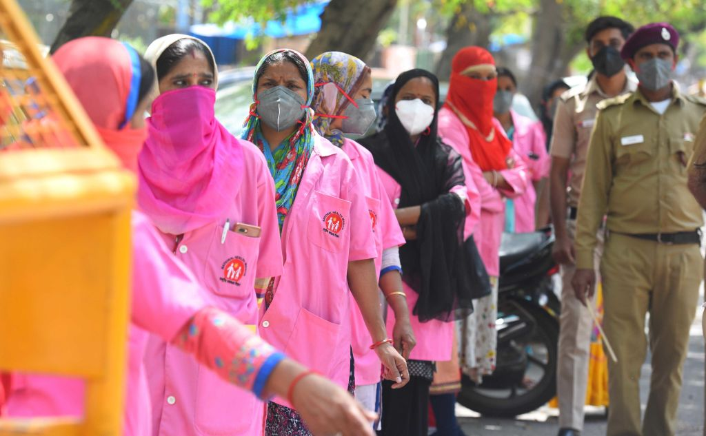 Asha Workers Collect Information Of People With Recent Travel History In View Of The Spread Of Novel Coronavirus Covid-19 Pandemic