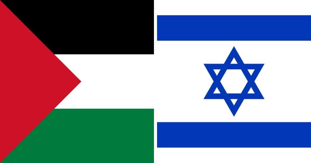 palestine israel flags