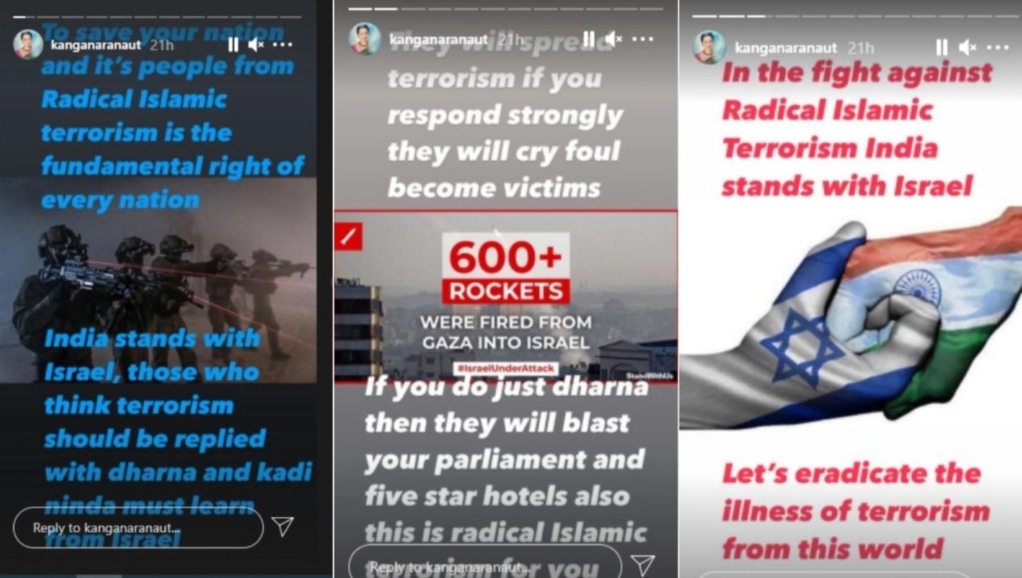 Kangana supports Israel