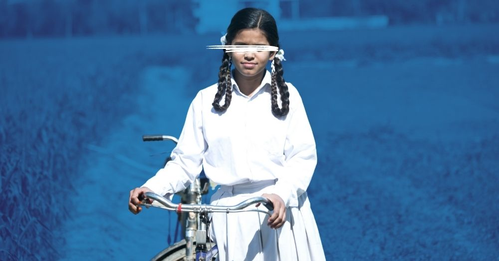 a school girl in india
