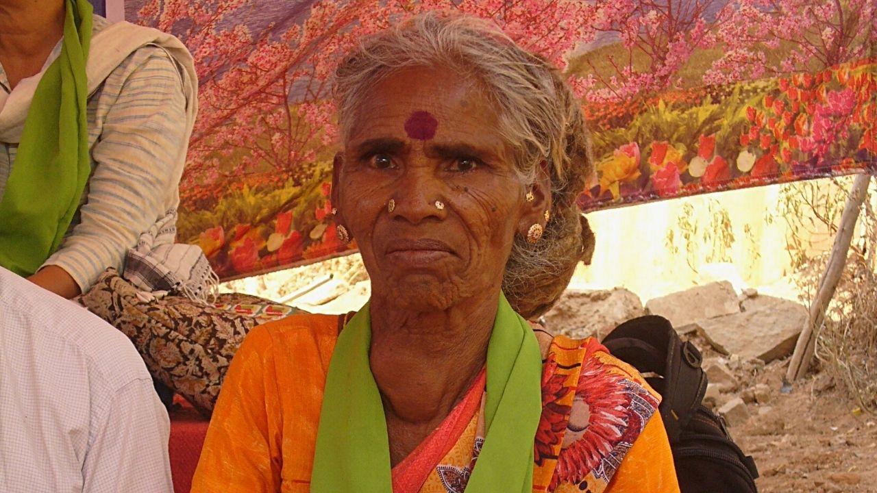 Kalavati at the protest
