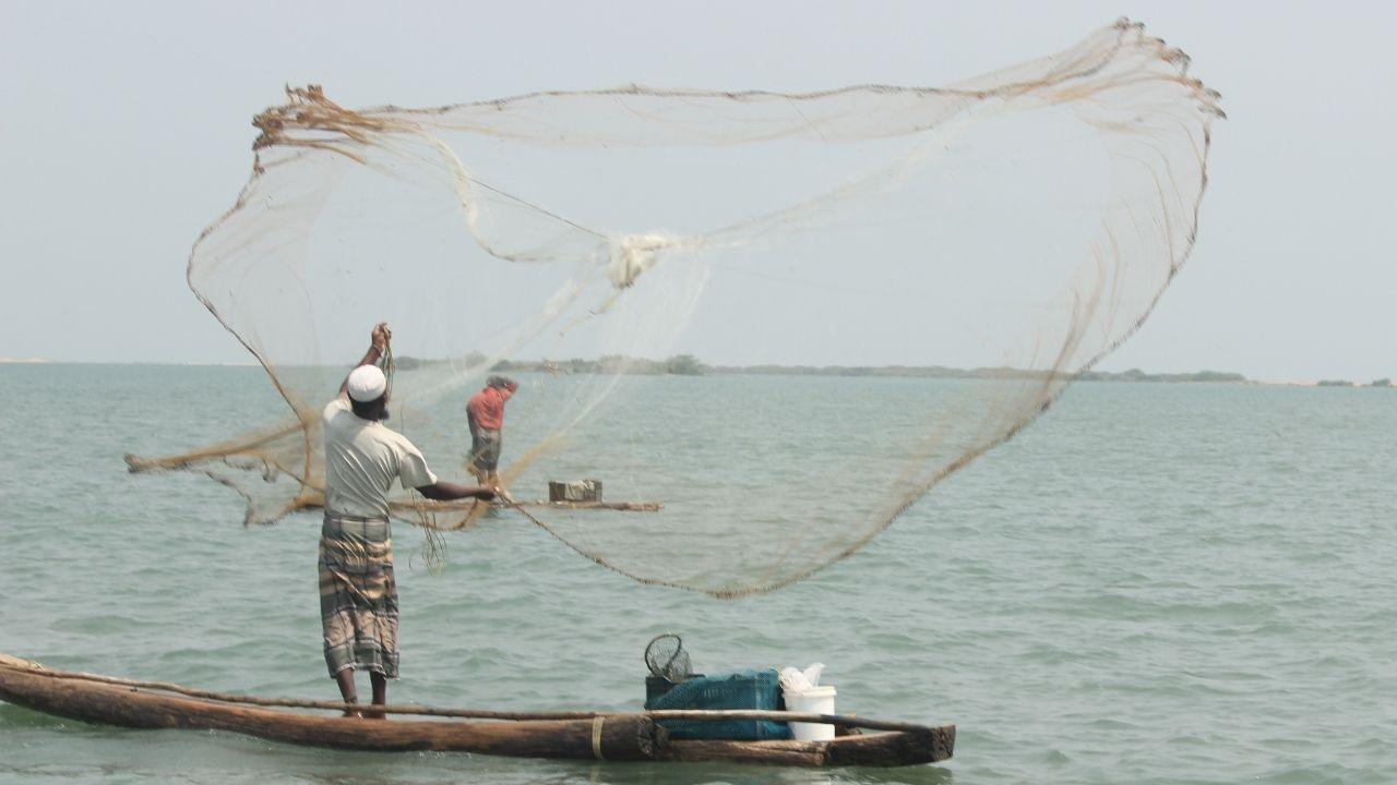 Fisherman river boat