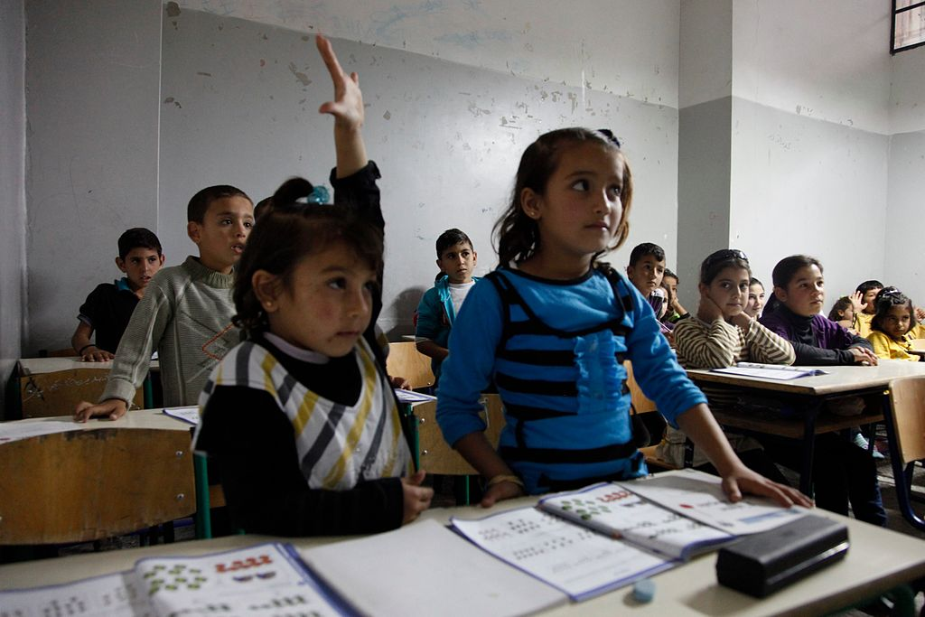 Syrian Refugee in Classroom