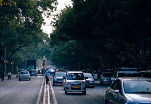 cars traffic road