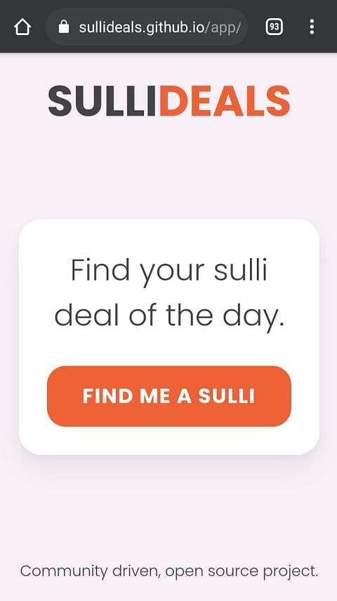 Sulli Deal App