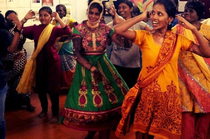 Burn survivors of domestic work engaging in group activities-PC-Jayanthi Damodaran